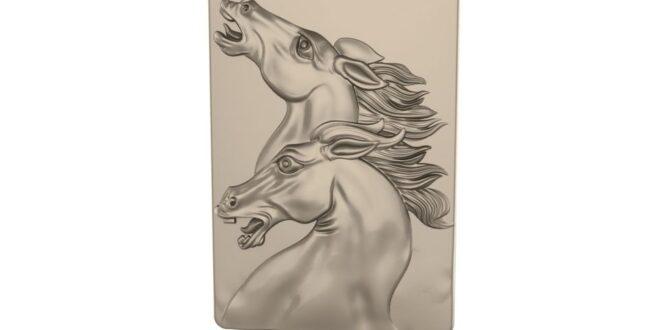 Crazy horses relief to cnc machines 3D stl 1662