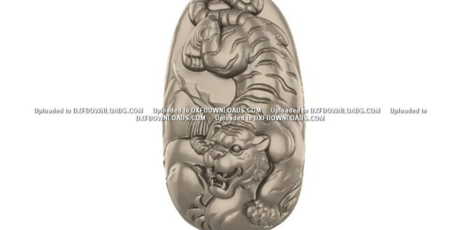 Free tiger relief 3d model to cnc STL 1664