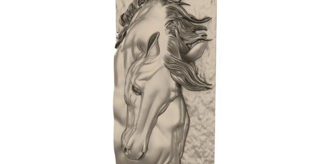 Horse panel 3D STL 1666