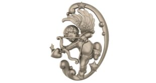 Cupid ornament 3D Model STL 1667