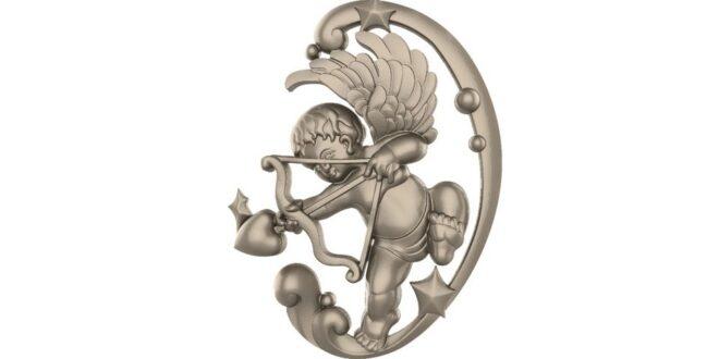 Cupid ornament 3D Model STL 1667