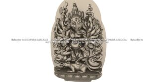 Free Ganesha 3D Relief CNC Model 1669
