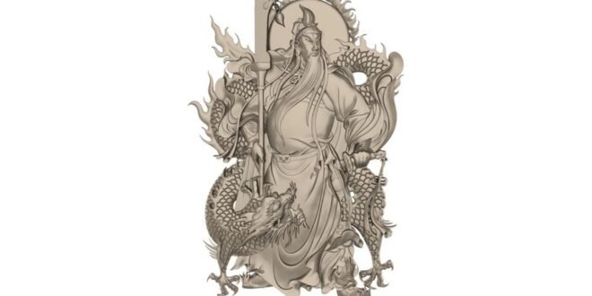 Dragon and man Relief Model 1671