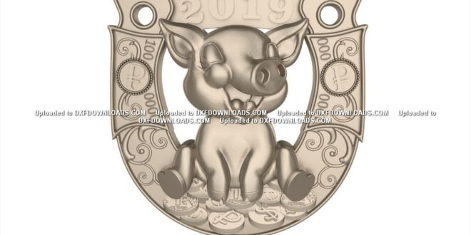 Free pig cnc router 3d file 1672