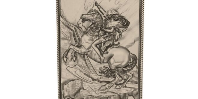 Panel Knight wall decor Relief CNC STL 1678