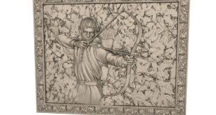 Archer Panel Relief 3D STL 1680