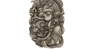 Ganesha Model to CNC ArtCAM RLF + STL 1681