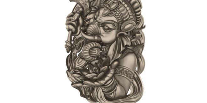 Ganesha Model to CNC ArtCAM RLF + STL 1681