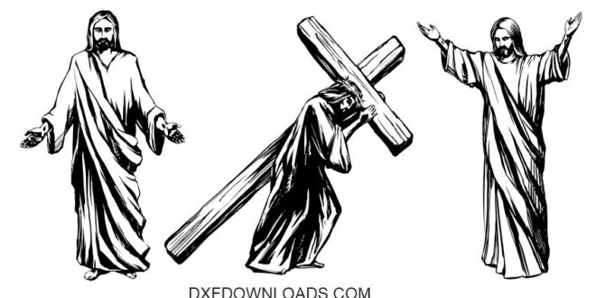 Free CDR Vector Jesus Christ Carrying The Cross