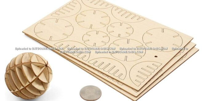Layout of a 3D wooden ball free download
