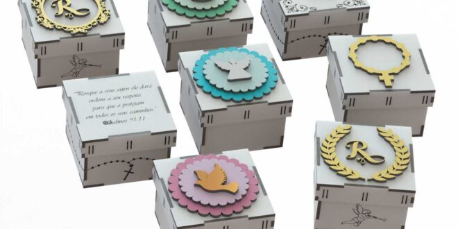 Wooden boxes for religious communion baptism