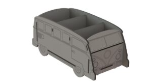 Car shaped object box Volkswagen kombi bus suv van camper