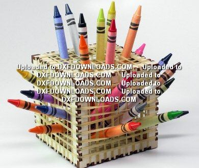 Plywood organizer for office pens and pencils free