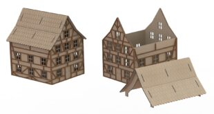 German architecture house dxf project to cnc laser cut