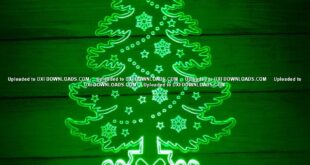 Christmas Tree 3d Illusion Lamp DXF File Free