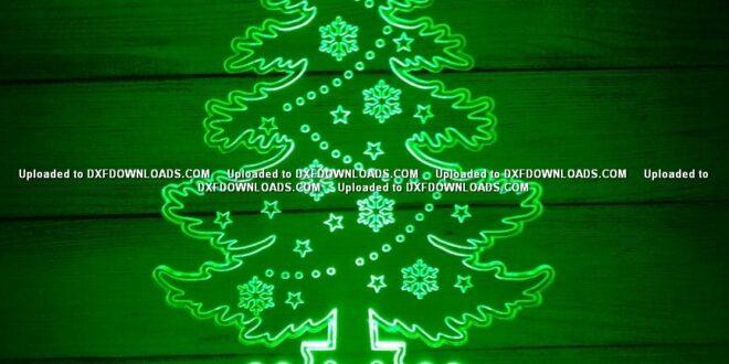 Christmas Tree 3d Illusion Lamp DXF File Free