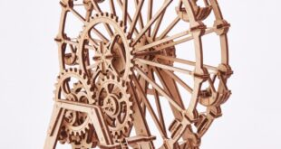 Vector Ferris wheel for laser cutting with instruction manual in pdf