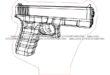 Glock gun pistol 3d illusion free