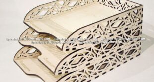 Free Laser Cut Vectors Paper and document tray