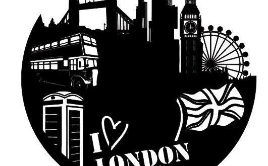 London vinyl clock free dxf file
