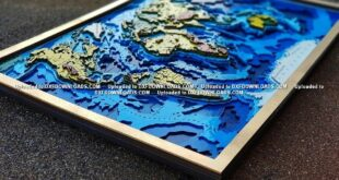 Multilayer world map cut vectors Free CDR