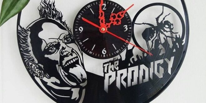 The prodigy vinyl clock vector cut file