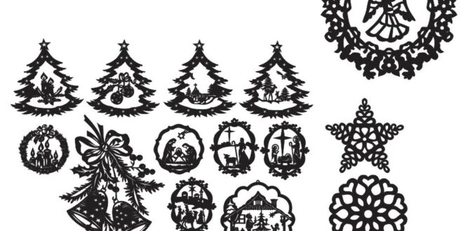 Free vectors christmas elements SVG DXF CDR