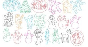 Christmas Vectors for CNC Engraving Free Download