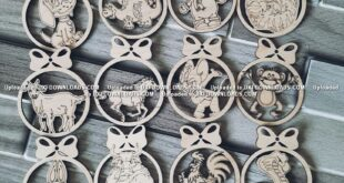 Laser Cut Free Symbols of the year Christmas
