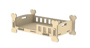 Dog house bone-shaped mdf wood 6mm