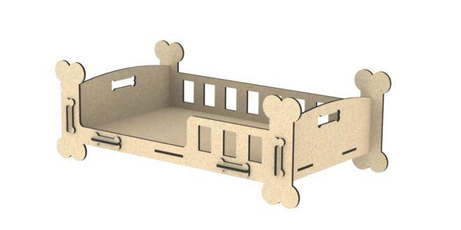 Dog house bone-shaped mdf wood 6mm
