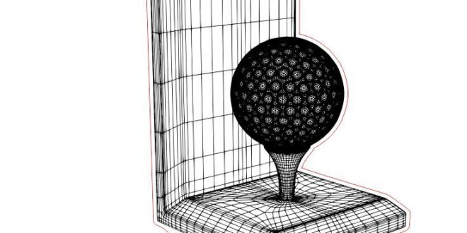 Golfball 3d illusion acrylic engrave plan