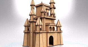 Disney castle cnc laser and cnc router versions CDR DXF