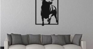 Bull wall panel decor