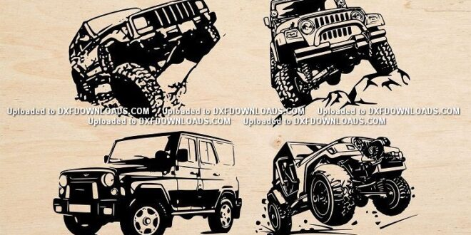 2D Jeeps CDR Vectors Free