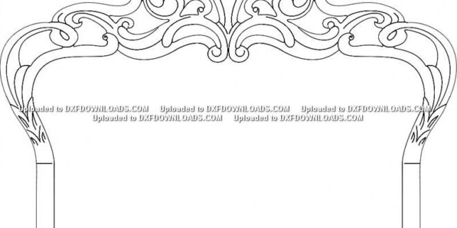 2d dxf vector bed cnc file free