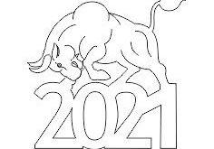 Bull 2021 Free vector