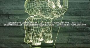 Laser Cut Baby Elephant 3D Night Light Desk Lamp 3D Optical acrylic Lamp