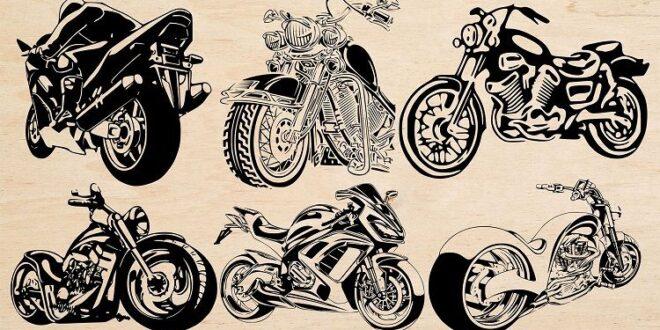2D CDR Vectors Bikes