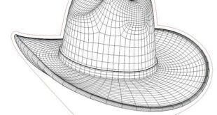 Cowboy Hat for 3d illusion acrylic lamp