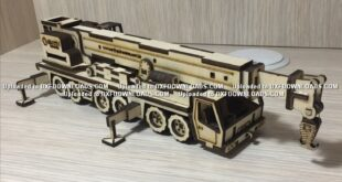 Crane Truck CDR Free design to cnc cut