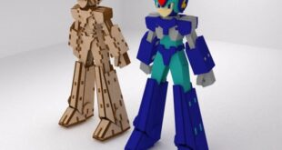 Megamen cnc file design