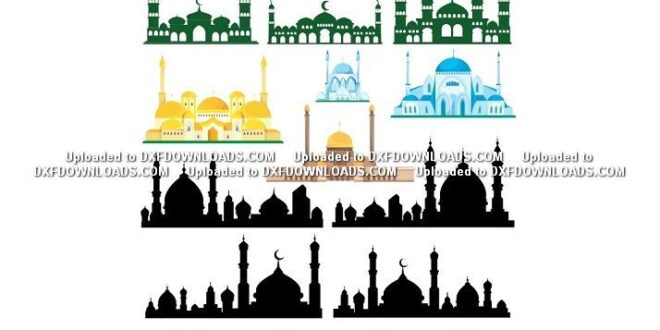 Mosque temple 2D Vector CDR Free