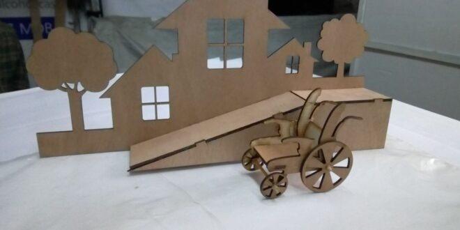 Ramp mock layout laser cut