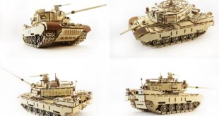 War Tank 3d puzzle cnc cut files CDR DXF