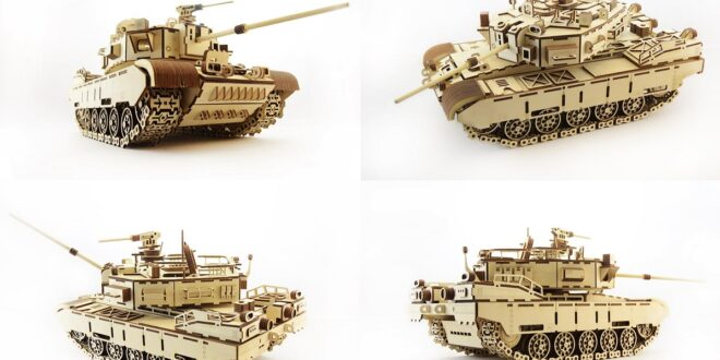 War Tank 3d puzzle cnc cut files CDR DXF