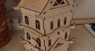 Chinese Wooden Tea House to laser cut