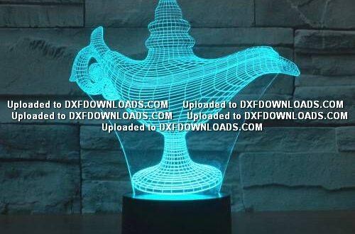alladdin 3d illusion Lamp Cnc File Free