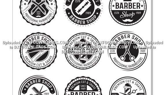 Barbershop Barber CDR Free Vector Logos