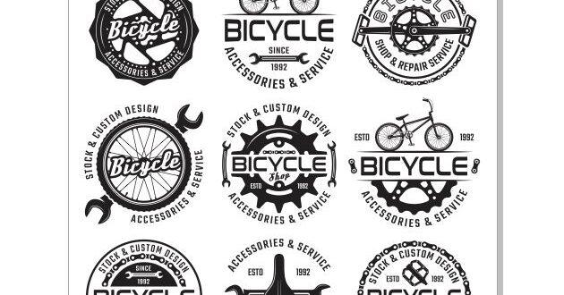 Bicycle service CDR Vector Logos